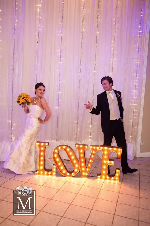 Illuminate Your Big Day With #love! Aren't These Lights