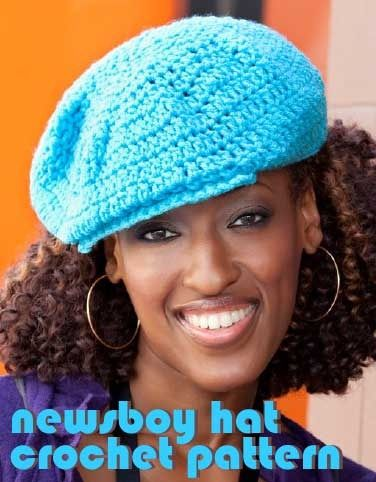 Newsboy Hat Crochet Pattern Free | Labores ganchillo | Pinterest ...