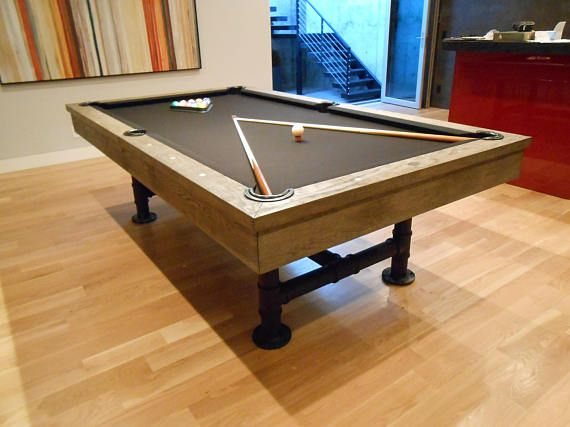 Quality High End Industrial Style Bedford Pool Table With Optional - 7 foot pool table dining top