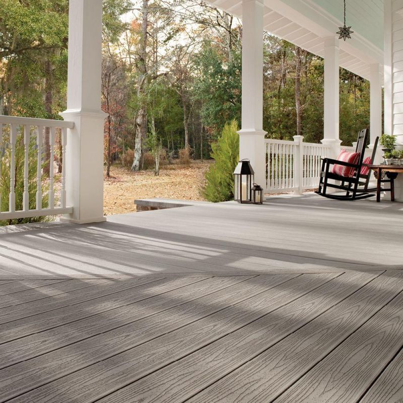 Trex 1 X 6 X 12 Transcend Gravel Path Squared Edge Composite Decking Board In 2020 Trex Deck Patio Style Backyard Landscaping