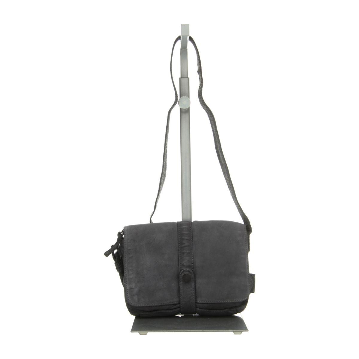 NEU: Voi Leather Design Handtaschen Überschlagtasche - 21072 SZ - schwarz -