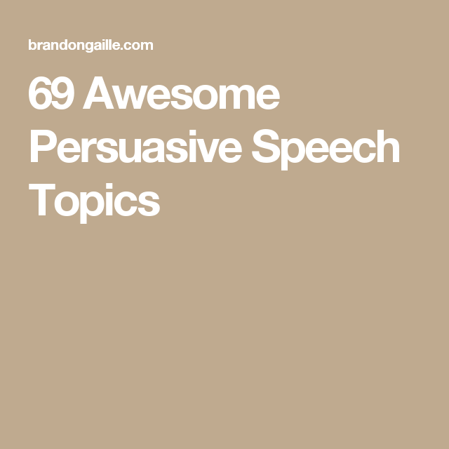good topics to talk about in a speech