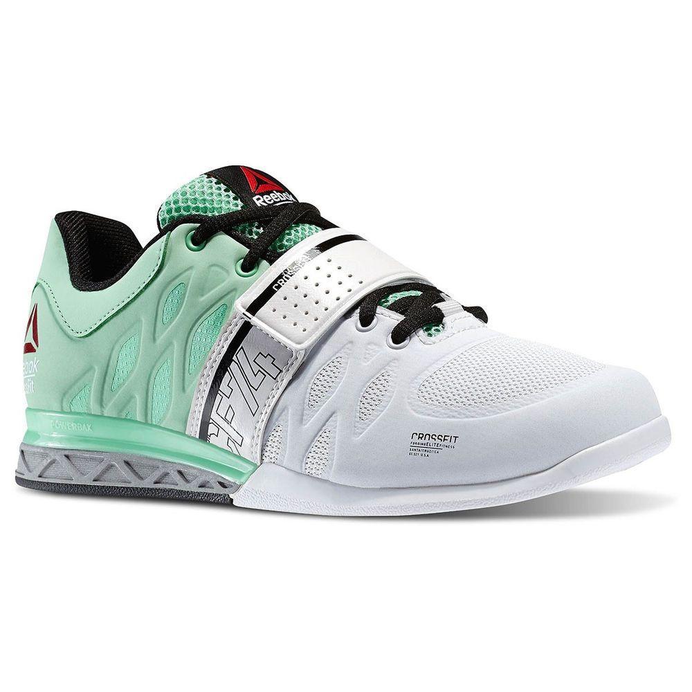09767865da8d NEW Reebok CrossFit Lifter 2.0 Womens Powerlifting Shoes White Mint Green  M45397  Reebok  Weightlifting