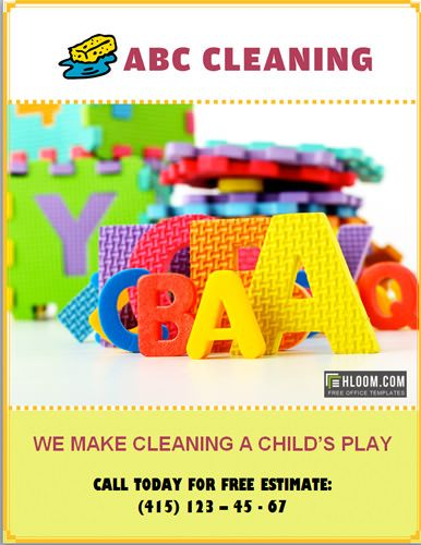 AbcCleaningFlyer  My Pins    Flyer Template