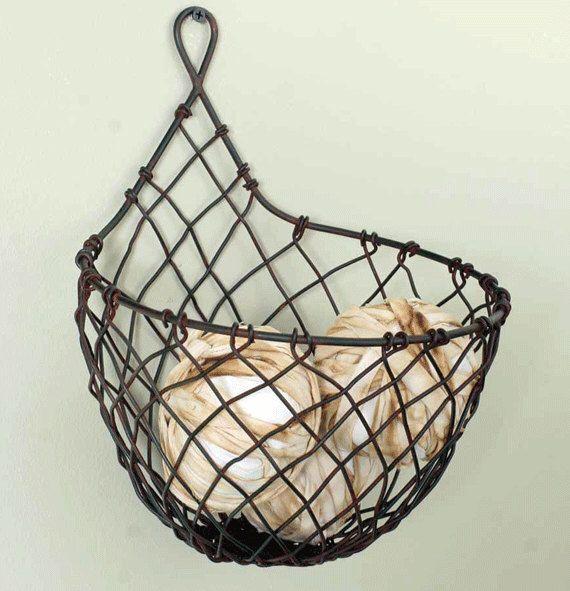 wire raindrop basket, vegetable hanging wire basket, farm