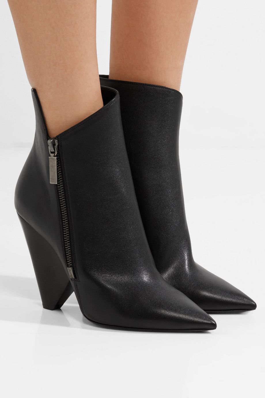 faaad4ad220 SAINT LAURENT - Niki leather ankle boots in 2019 | Shoes | Boots ...