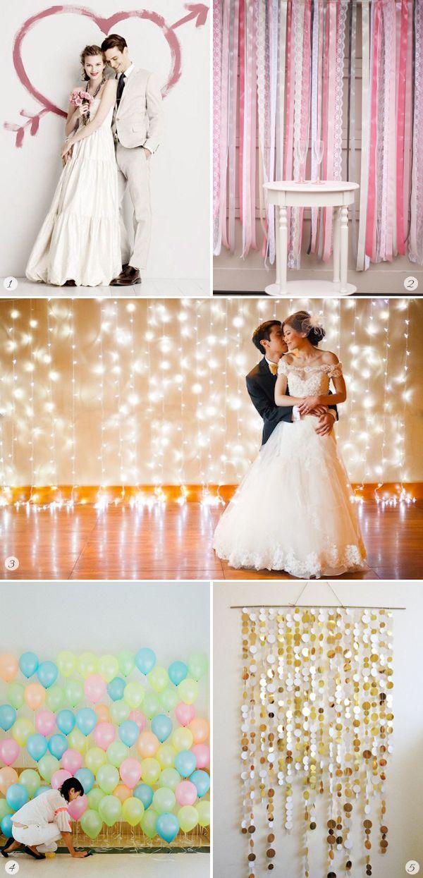 Funf Einfache Ideen Fur Den Photo Booth Hintergrund Diy Wedding