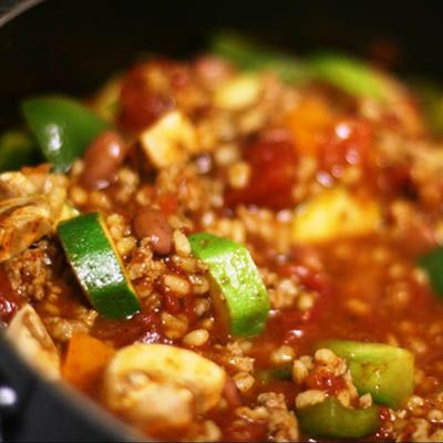 Turkey, Veggie, and Barley Chili - The Best Recipes from Our Favorite Healthy Food Blogs - Shape Magazine - Page 14