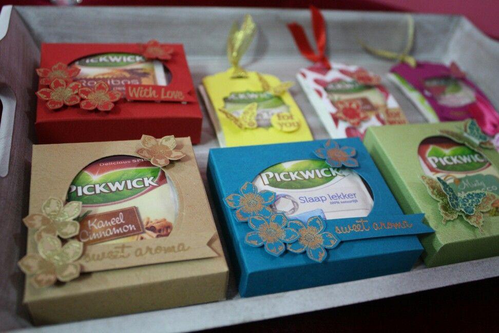 Envelope punch board teabag box