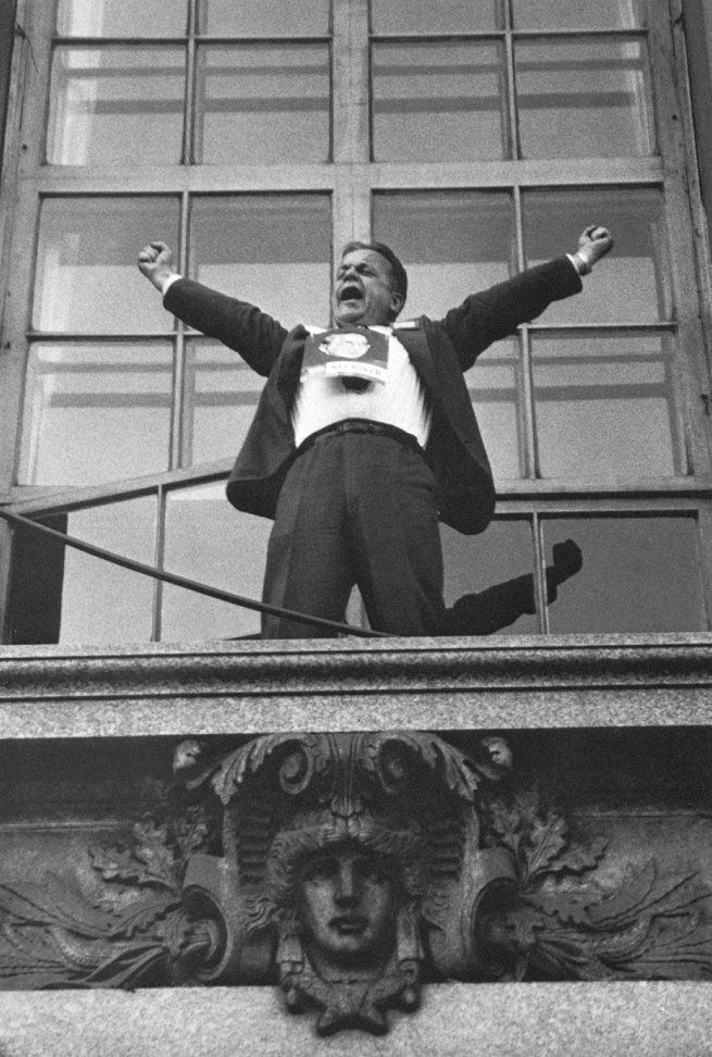 Robert Frank Political Rally – Chicago 1956