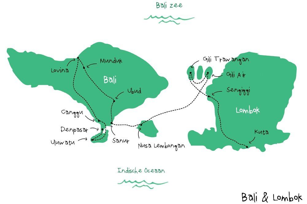 Backpack Route Indonesie - Backpacken in Azië