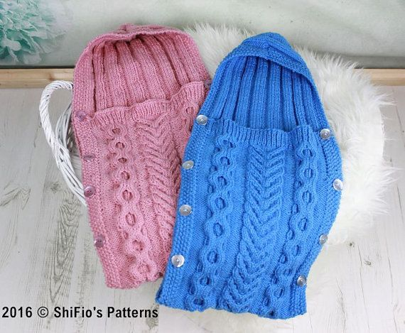 41425eb06 KNITTING PATTERN For Baby Sleeping Bag Cocoon Papoose by ShiFio ...