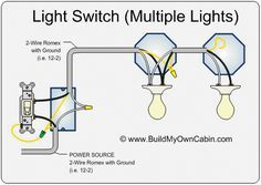 multiple lights one switch diagram home wiring diagrams Two Light Wiring Diagram