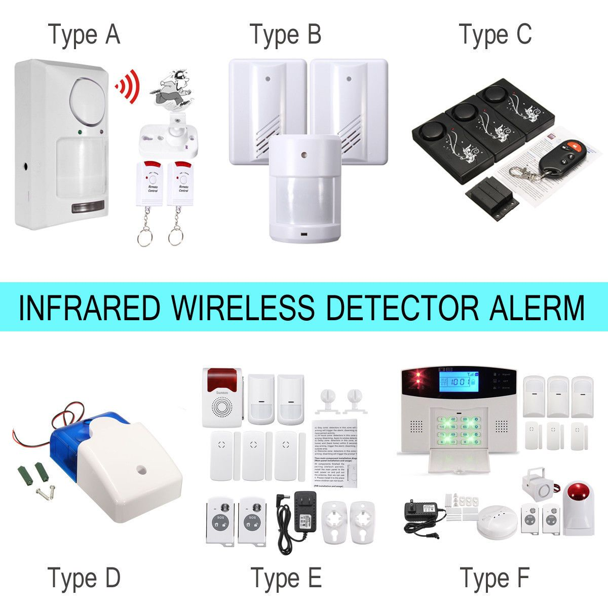 553 Aud Wireless Ir Motion Sensor Infrared Detector Burglar Intruder Alarm Remote Home Security Ebay