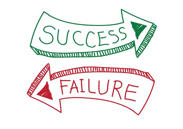 Success And Failure Sign Symbol Success And Failure Business Icons Vector Business Poster