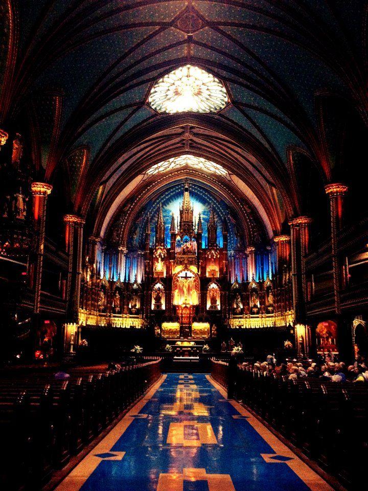 La basilique Notre-Dame de Montréal, por Amanda Leandro.