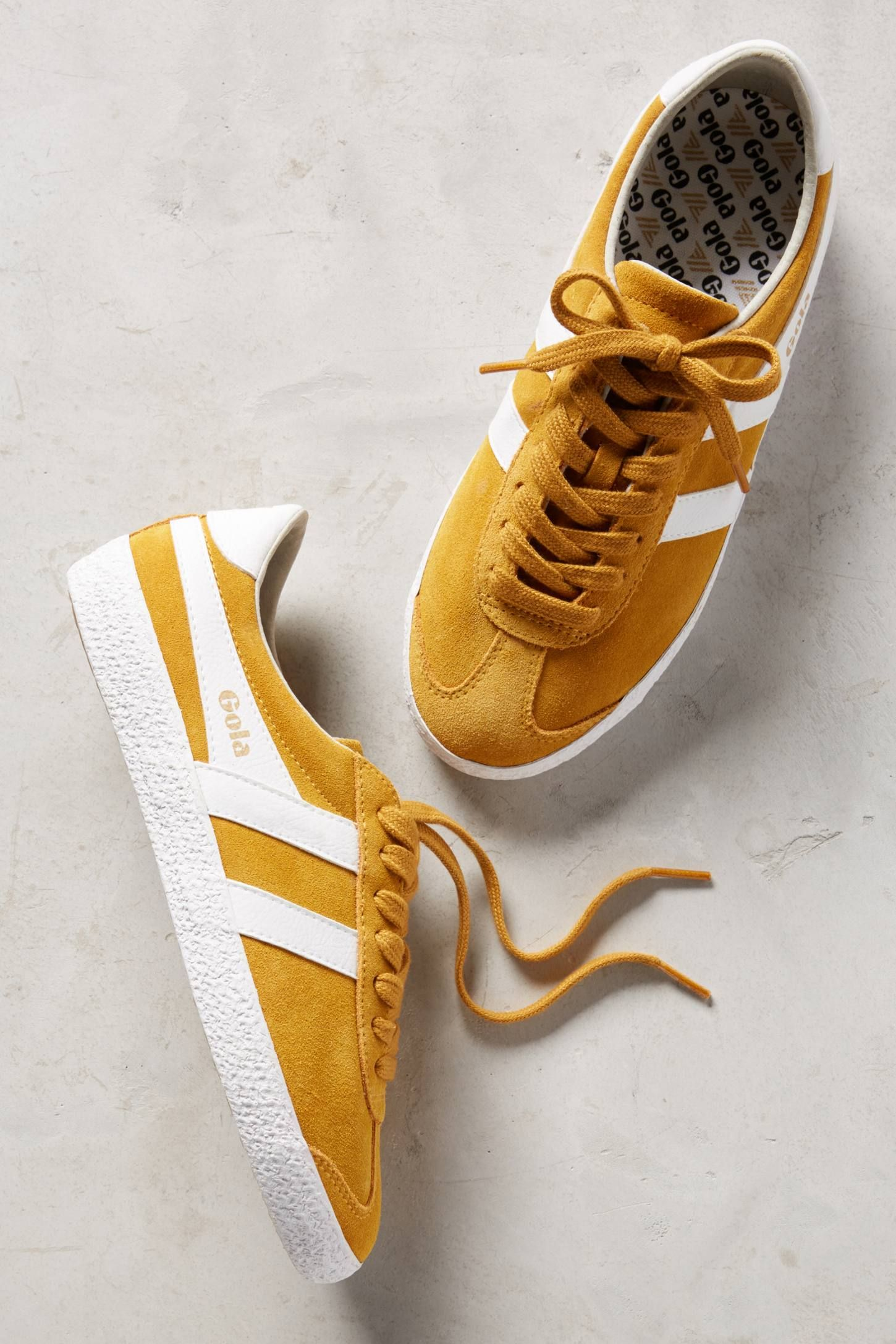 Gola Yellow Suede Sneakers | Yellow