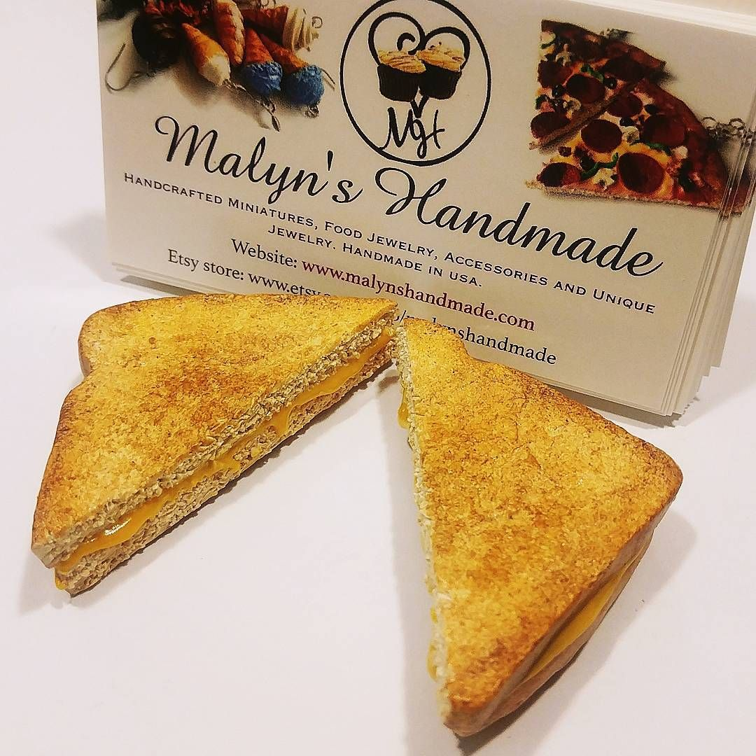 Grilled cheese food business card holder #foodie #fakefood #novelty ...