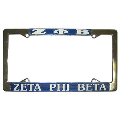 Zeta Phi Beta License Plate Frame - Rah Rah Co. rrc | Pinterest ...