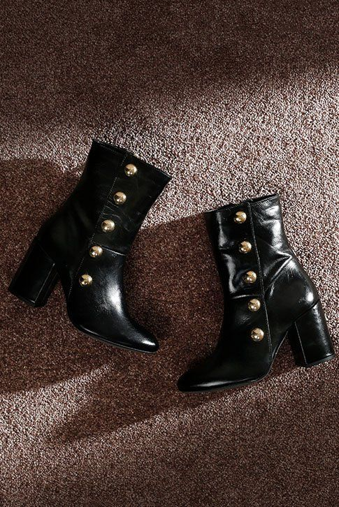 12ee03abc17b Black Mid Heel Ankle Boots. Paying tribute to the current military trend