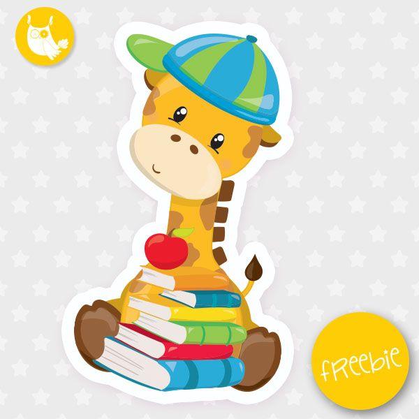 School giraffe Freebie, free clipart, freebie, commercial