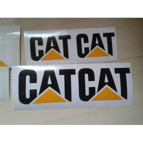 Cat Caterpillar Logo Sticker  Decal For Cars Bikes And - Car decal maker online