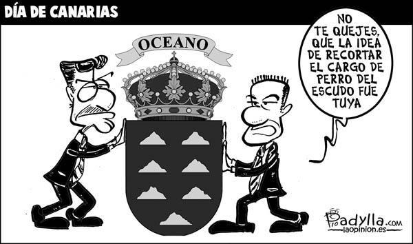 #TuFraseCanaria  Escudo