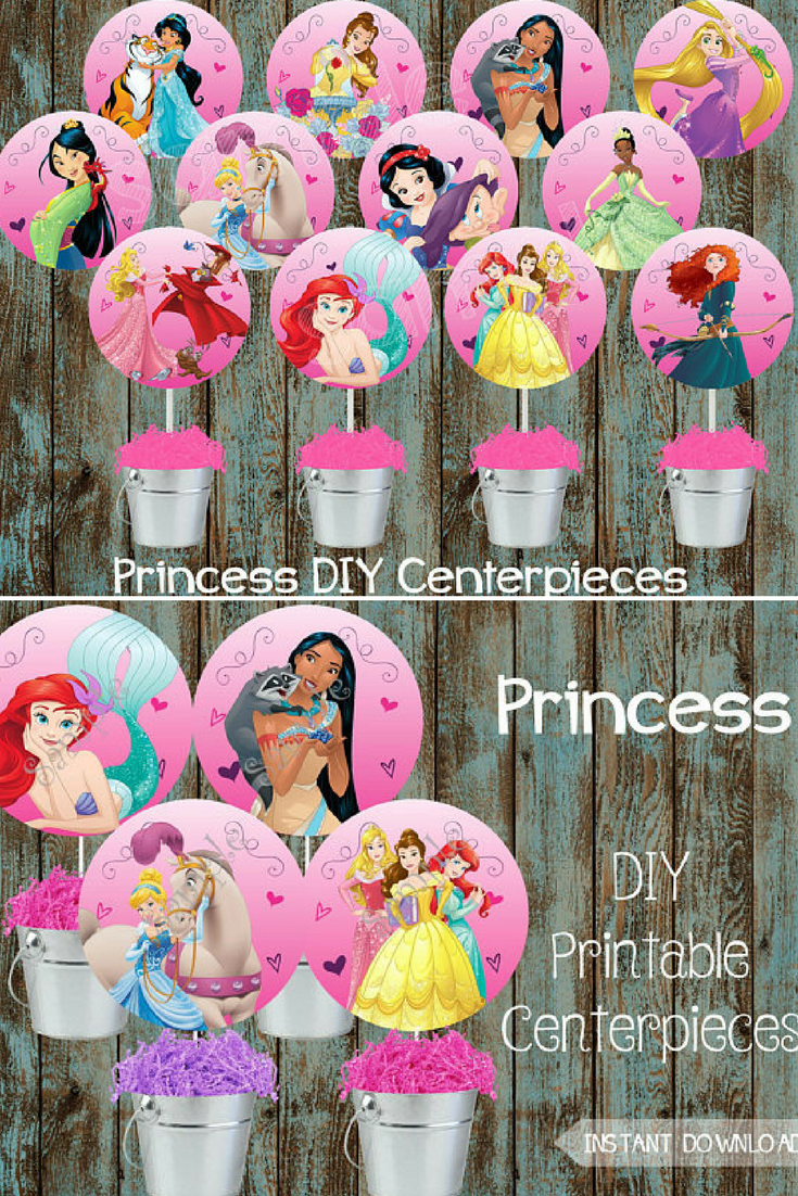 Princess Centerpieces Dinsey Decorations Birthday Party Disney Princesses Supplies Centerpiece Ad