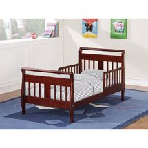 Baby Relax Sleigh Wood Toddler Bed With Safety Rails Cherry Walmart Com Toddler Bed Childrens Bedroom Furniture Toddler Mattress