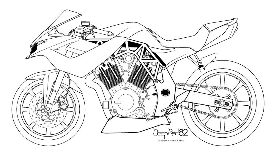 Motorbikes Drawn With Paint By Deepred82 Luis Dominguez