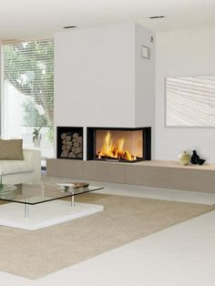meuble bas laque contemporain cheminee