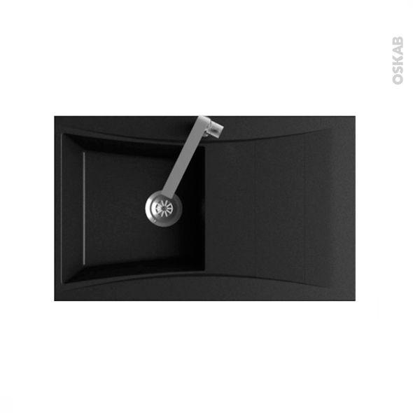 evier de cuisine vago r sine noir 1 bac gouttoir. Black Bedroom Furniture Sets. Home Design Ideas