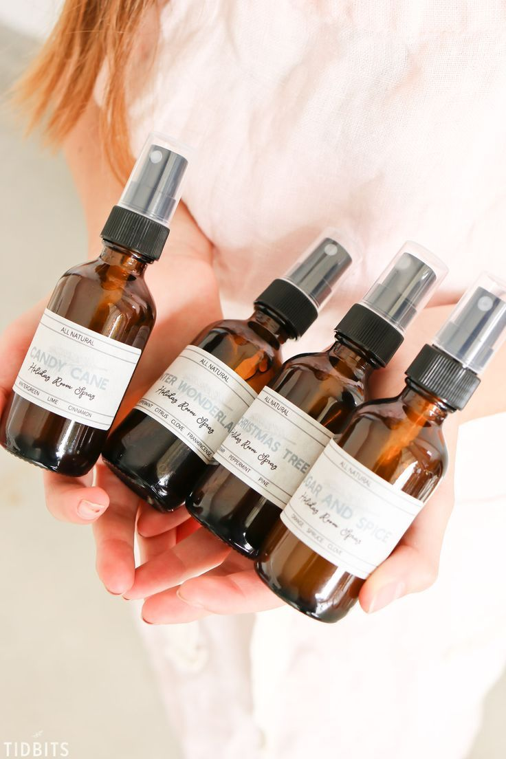 All natural essential oil holiday room spray recipe