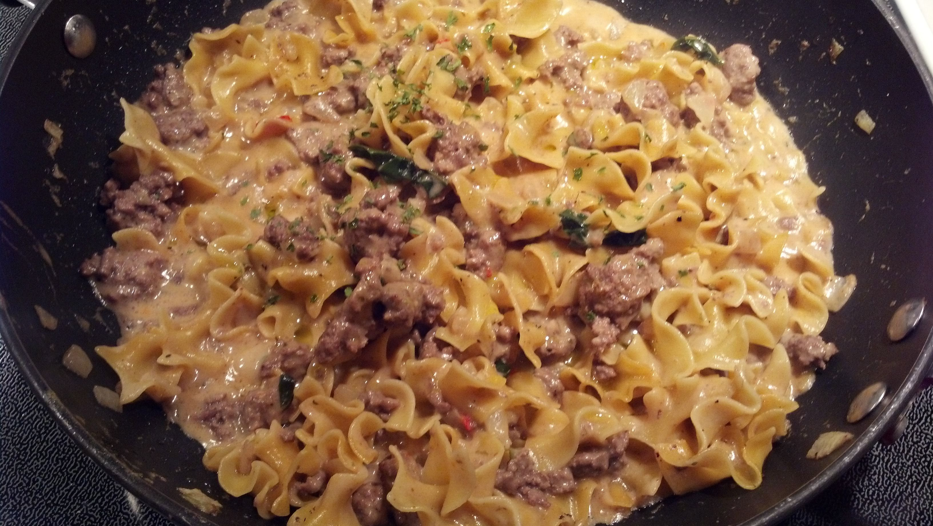 Noodles And Ground Beef Alfredo Helper Recipe Recipe Using Alfredo Sauce Hamburger Alfredo Recipe Ground Beef