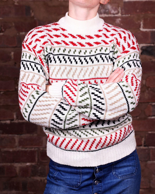 Vintage 1990s festive knitwear jumper sweater by