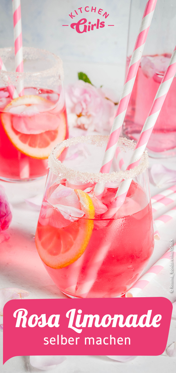 Rezept: Rosa Limonade selber machen #alcoholicpartydrinks