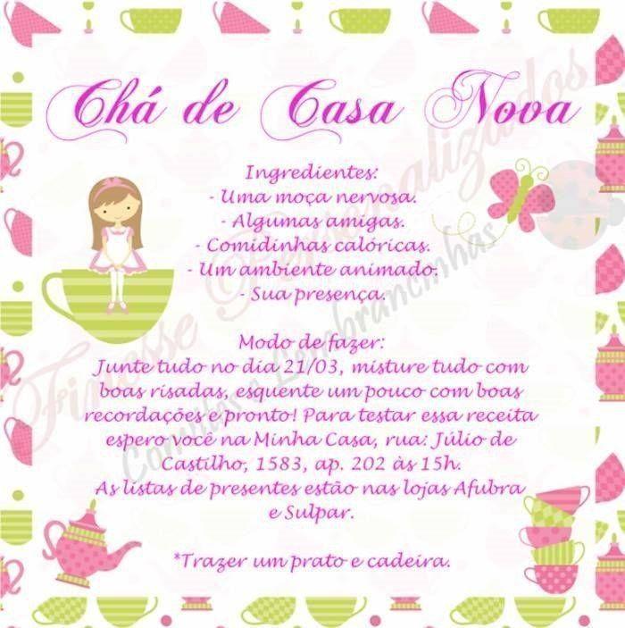 Convite Cha Casa Nova 10 Cha Casa Nova
