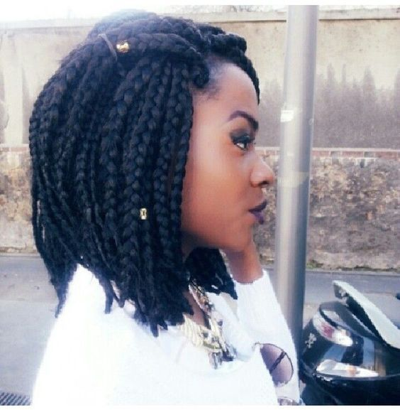Cool Short Box Braids Hairstyles For Black Women //  #Black #braids #Cool #Hairstyles #Short #Women