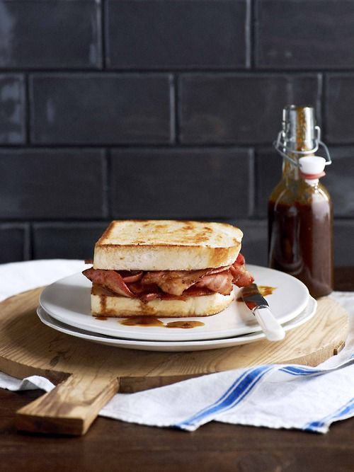 Bacon Butty With House Of Parliament Sauce Recipe — Dishmaps