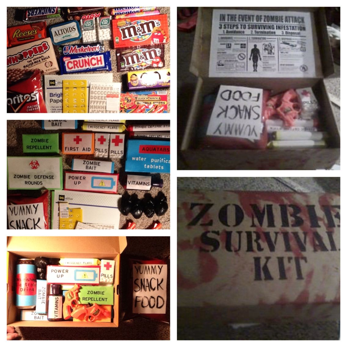 Zombie Survival Kit For The Boyfriend's Birthday!!! Loved It!!