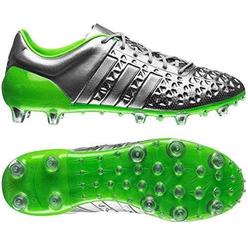 check out b50d1 de5c7 ... discount soccer shoes cleats adidas shoes men adidas mens ace 15.1 fg ag  eskolaite silver green