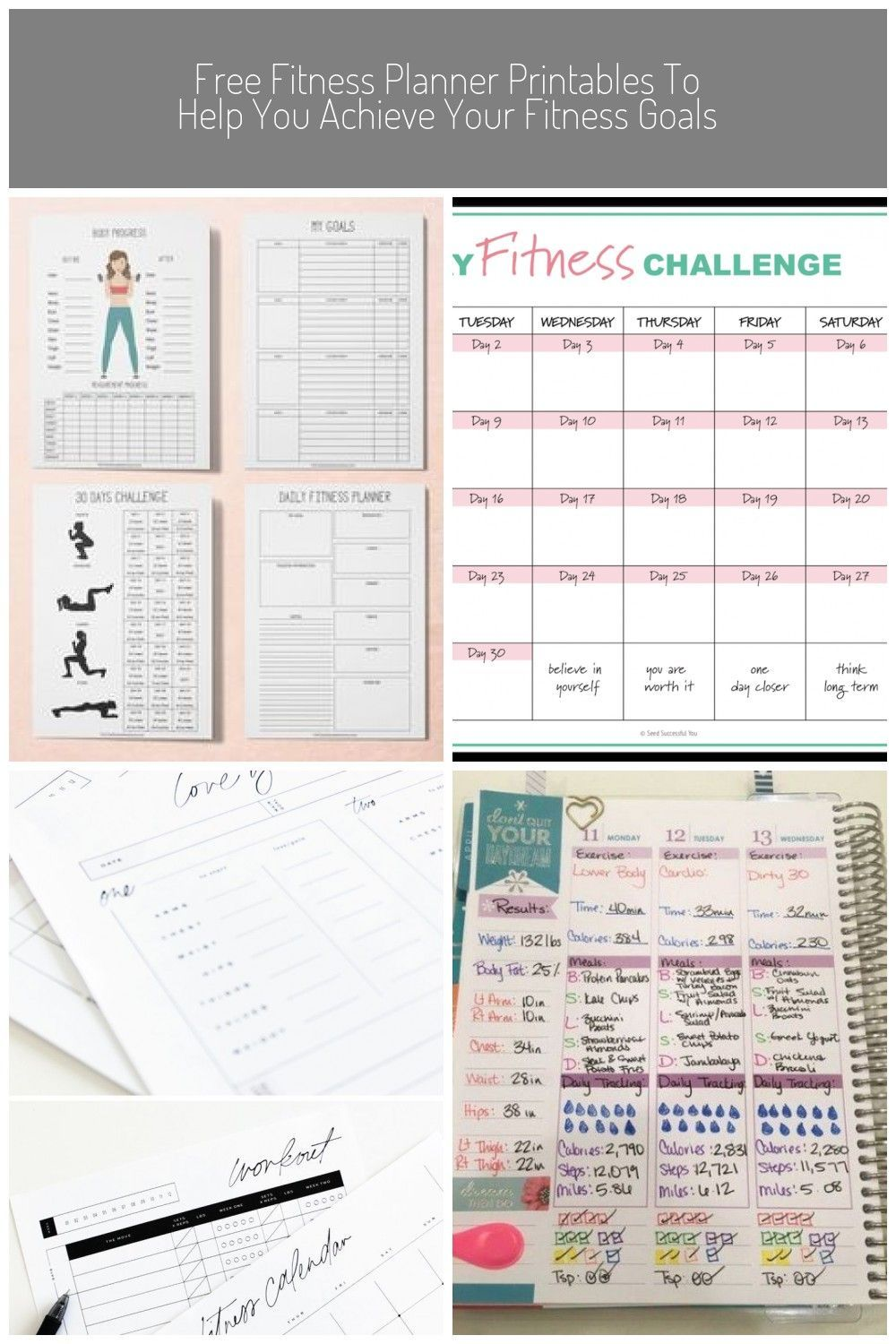 Fitness Planner Printable Workout Planner Printable Health | Etsy #fitness plann... -  Fitness Plann...