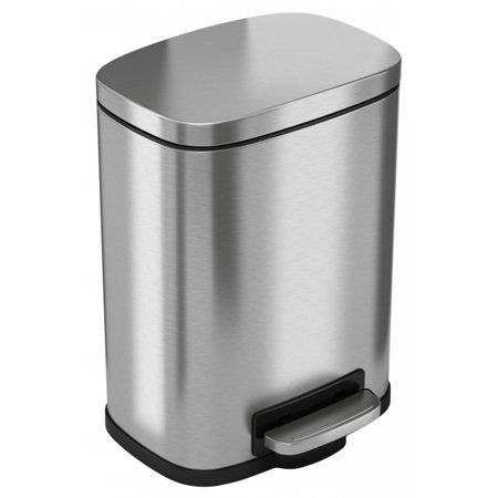 Itouchless Softstep 5 Liter Stainless Steel Step Trash Can 1 32