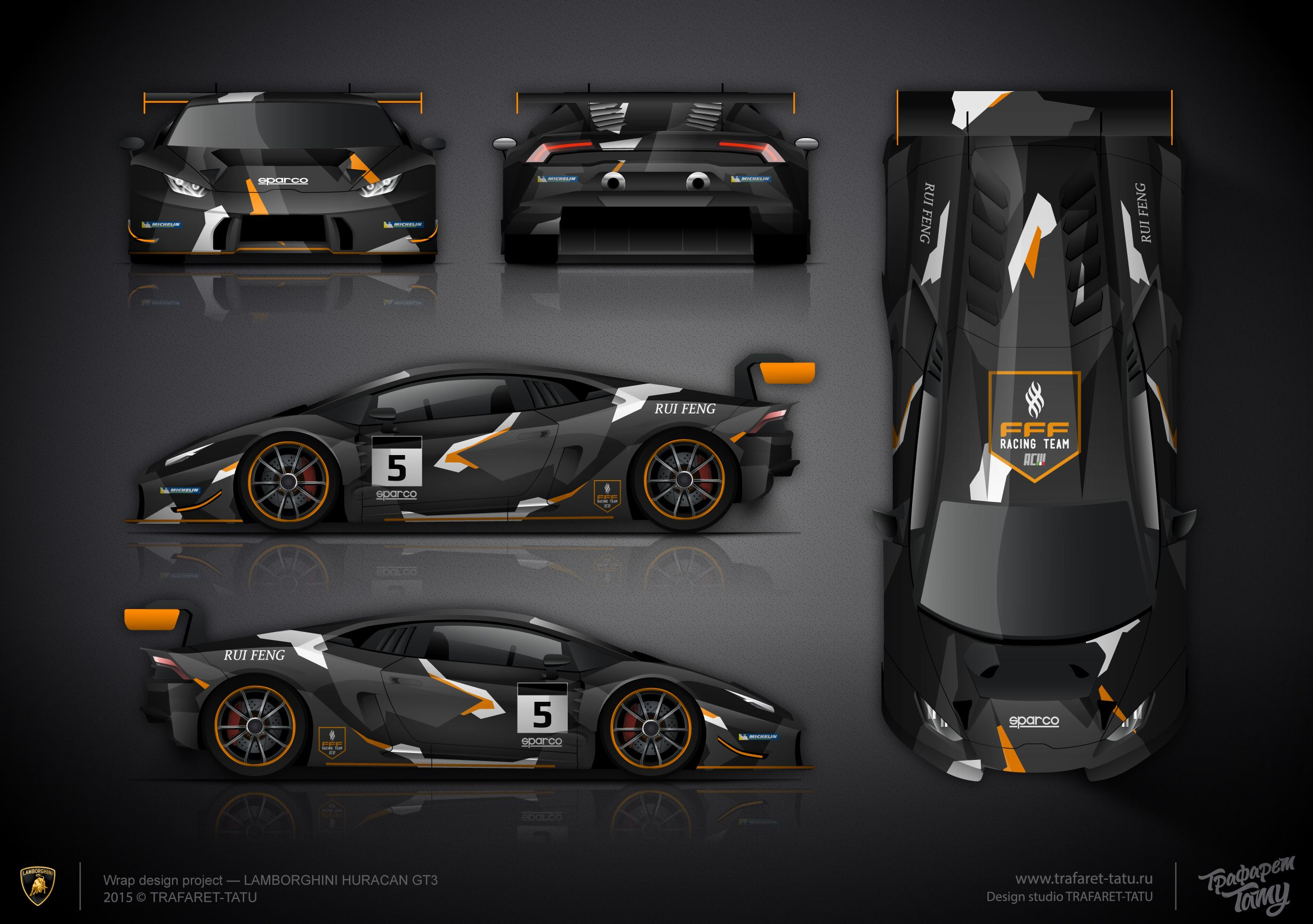 The Approved Livery Design For LAMBORGHINI HURACAN GT3 For The FFF Racing  Team