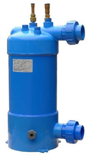 Salt water or swimming pool water heat exchanger for heat - Homemade swimming pool heat exchanger ...
