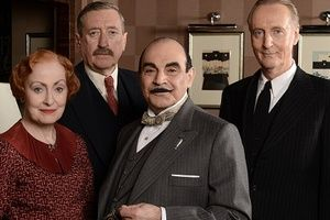 The Big Reunion - David Suchet is reunited with acting favourites Philip Jackson (Japp), Pauline Moran (Miss Lemon) and Hugh Fraser (Hastings), in the final series of Agatha Christie's Poirot.