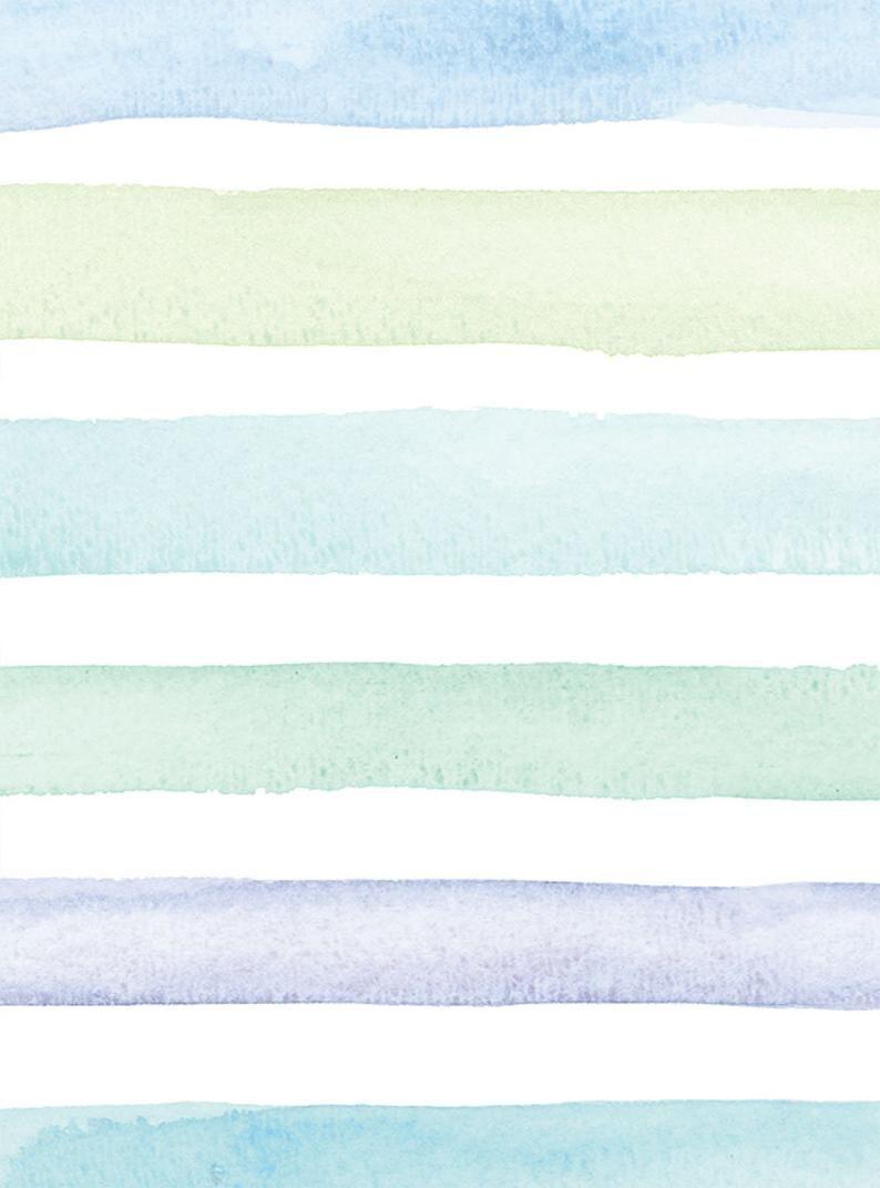 Watercolor Stripes Ocean Blue Peel Stick Fabric Wallpaper In 2021 Simple Iphone Wallpaper Simple Wallpapers Iphone Background Wallpaper