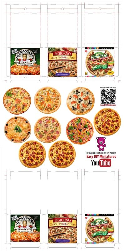pizza 03 dollhouse printables pinterest dolls miniatures and pizza. Black Bedroom Furniture Sets. Home Design Ideas