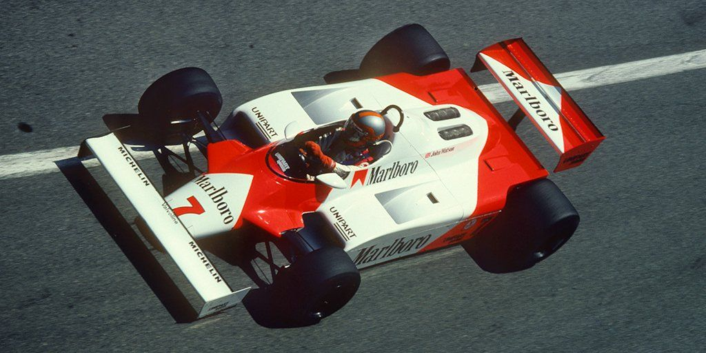McLaren MP4 1 - the first F1 car to use a carbon fibre monocoque ... 355593c223ddb