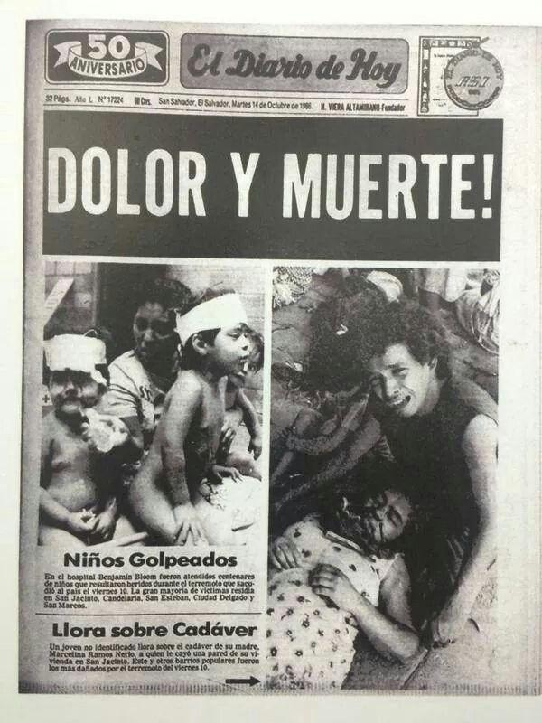 Terremoto en El Salvador, 10 de octubre 1986.